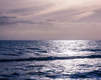 Oversized Large Ocean Photograph - seascape ocean navy blue sapphire home decor - 30x45 Endless Sea No. 1303-8930
