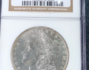 1888 Morgan Silver Dollar NGC Graded Coin MS65, Philadelphia Mint