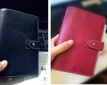 A7 / A6 Malden Style Planner Genuine Leather 3 Colors Agenda Organizer Diary 6 Ring