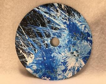 Painted CD - Blue Splash