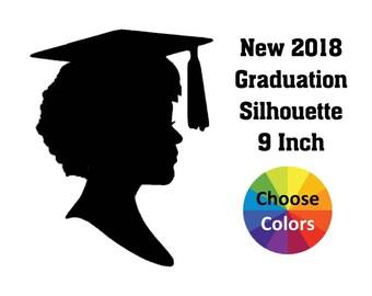 DIY Graduation Centerpiece Party Decoration High School Graduation Party Centerpiece Pick 9 Inch New 2018 Girl Silhouette Short Hair
