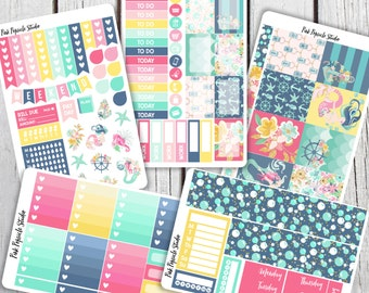 Anchors Away Deluxe Weekly Kit Planner Stickers Designed For Erin Condren Life Planner