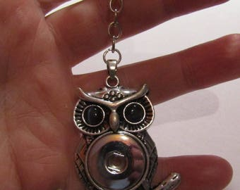 keychain, owl, black eyes, for pressure 18mm / 20mm