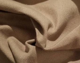 """Hemp/cotton Canvas blend by the yard eco-friendly natural fiber per yard """"Taupe"""""""