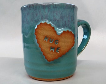 Ready To Ship,  Pottery coffee mug, Valentines Day Coffee Mug,  Wife gift, Girlfriend gift, Husband Gift, Boyfriend Gift