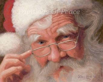 Santa Claus - Santa - Christmas - Print - 24 x 30 - FREE SHIPPING thiis MONTH!
