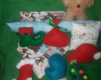HOLIDAY BUNDLE: cat toys, catnip toys, stuffed toys, Kitty toys, unique kitty toys, Christmas kitty toys, kitten toys, catnip cat toys, toys