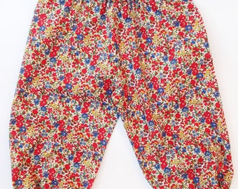 Girls Harem Pants Liberty Art tana lawn fabric. Emma + Georgina C print.