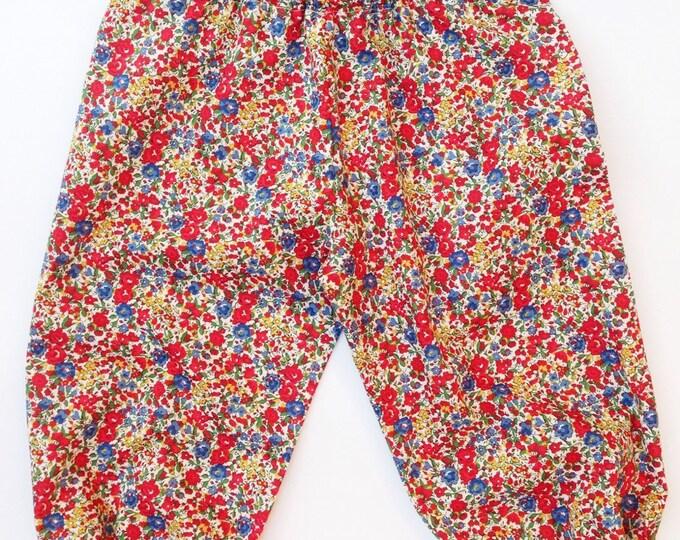 Girls Harem Pants Liberty Art tana lawn fabric. Emma + Georgina C print.