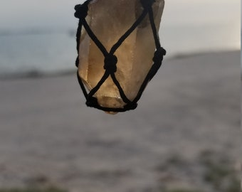 Smoky Quartz Macrame Necklace