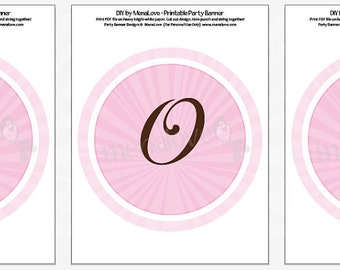 Pink Blossom Cross Communion - DIY Banner
