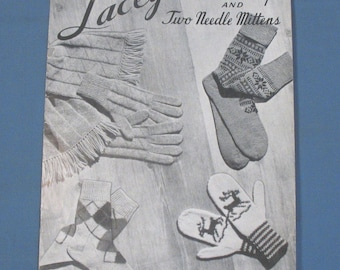 Vintage Laceys Socks, Gloves-Scarves and two needle Mittens booklet