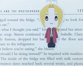 Edward - Magnetic bookmark  || anime, brotherhood, bookmark, bookish, bookmarks, fma, magnetic bookmarks