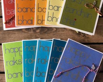 Raksha Bandhan Card + Rakhi
