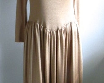 70s Studio 54 Champagne Jersey Dress