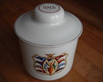 1913 (Ivy League) Tobacco Jar Cornell Harvard Yale Princeton