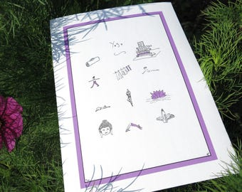 Contemporary Limited Edition Illustration with Yoga Theme