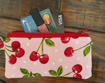 Cherry Pie Wallet ,Coin Purse,  Credit Card Holder
