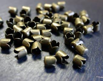 Set of 50 bead caps-caps 8 mm