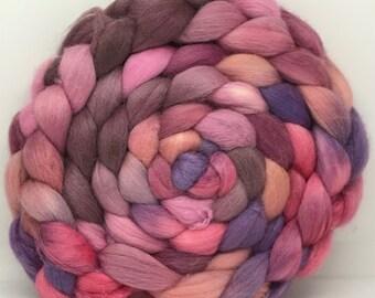 Merino/Baby Alpaca/Tussah 50/30/20 Spinning Fiber - 7.5oz - Roses are Real 1