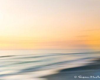 Impression d'Art abstrait, paysage coucher de soleil photo, plage couleur Wall Art, Photo Nature, Home Decor, Orange, imprimé gris, Fine Art Print, 16 x 24