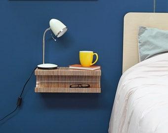 Floating nightstand/ bedside table/nightstand/modern shelf/ nachttisch/ floating shelf/ floating console/ table de nuit