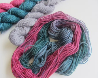 Hand Dyed wool mini set