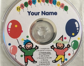 Personalized Birthday Songs on CD