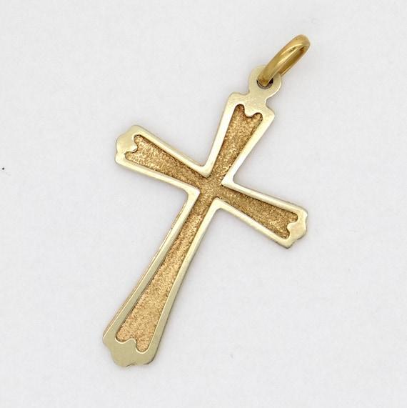 Handcrafted 18k gold cross golden cross pendant christian handcrafted 18k gold cross golden cross pendant christian faith symbol religious catholic jewelry solid yellow gold pendant aloadofball Images