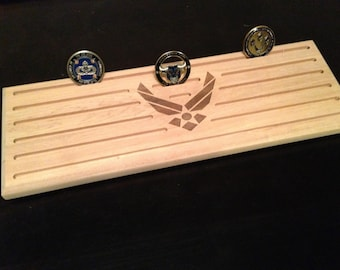 Solid Maple Challenge Coin holder