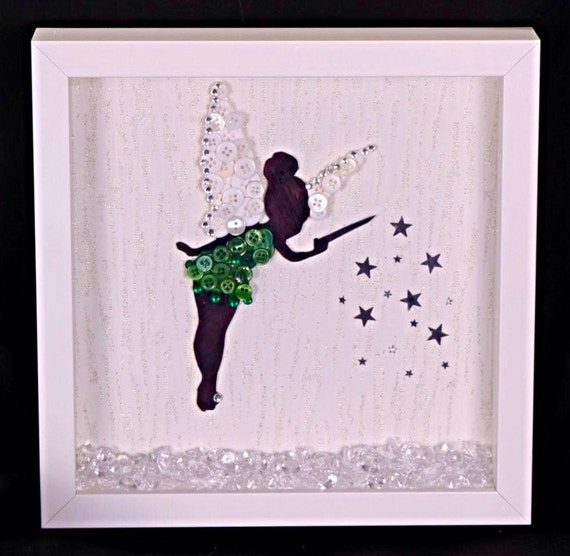 Disney\'s Tinkerbell Button Art Frame Unique Gift for any
