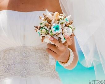 Sea Shell Bouquet Wedding Bouquet Sea Shore Wedding Beach Wedding Bouquet