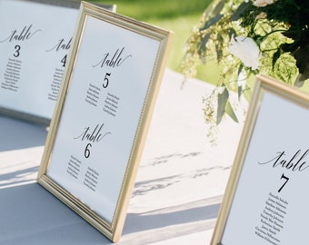 Wedding Seating Chart, Seating Chart Template, Wedding Seating Cards, Alphabetical, Seating Chart Printable, PDF Instant Download #BPB310_5B