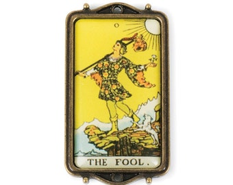Tarot Card Pendant - The Fool (STEAM204)