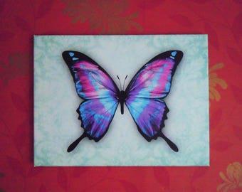 AZURE BUTTERFLY ART beautiful wall art canvas / wall canvas / choose size