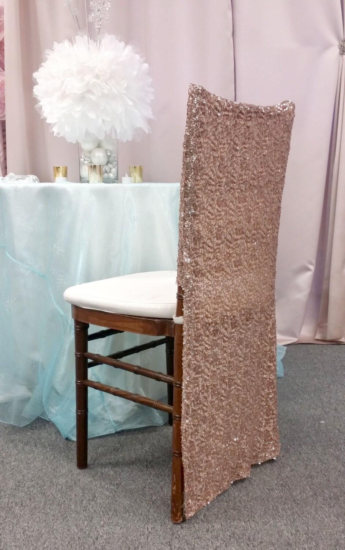 Rose Gold Full Sequin Chiavari Chair Cover Special Chiavari