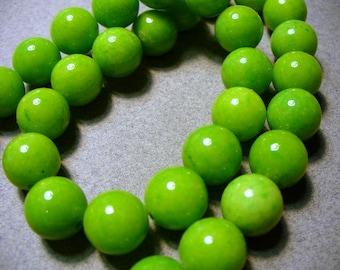 Jade Beads Gemstone Green Round 10MM