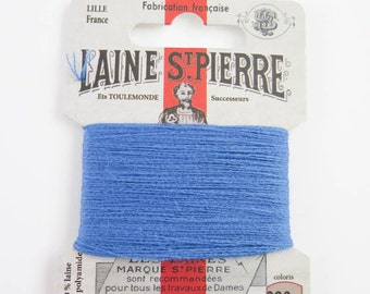 French Wool Embroidery Floss Laine St. Pierre for Hand Embroidery, Darning | Wool Embroidery Thread in CORNFLOWER (#690-A1)