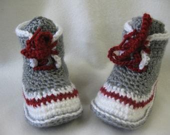 """Patron pantoufle bottine style bas de laine - grandeur 6-7 (6: 5.50"""" - 14.5cm et pour la grandeur 7 = 5.75"""" - 15cm)"""