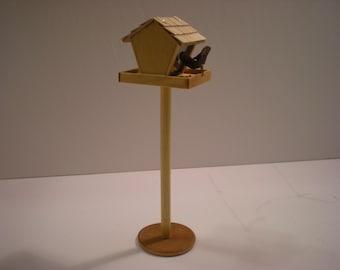 1:12 - Dollhouse Miniature -Bird Feeder - Handmade -