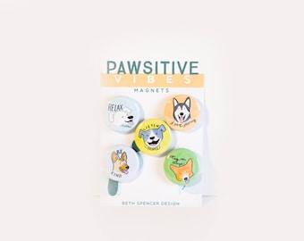 Dog Magnets / Dog Gift / Animal Magnets / Corgi Magnet / German Shepherd / Refrigerator Magnet / Pit Bull Magnet / Dog Art / Pit Bull