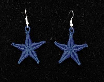 Star Earrings - Blue