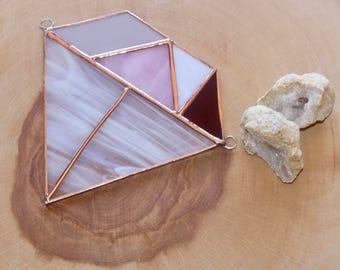 Stained Glass Diamond Suncatcher, Home Decor