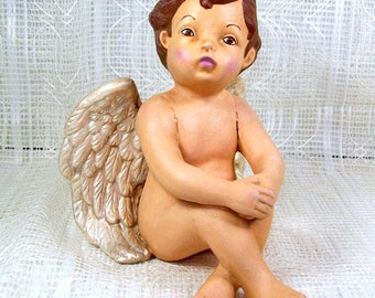 Ceramic Angel / Angel Figurine / Ceramic Angel Statue / Angel Gift / Angel Decor / Baptism Gift / Cherub Angel /  Christening Gift