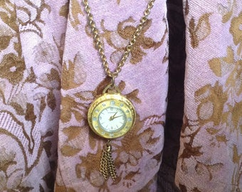 Vintage 1960's  Pendant Watch Necklace