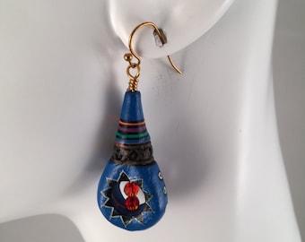 Porcelain Blue Earrings