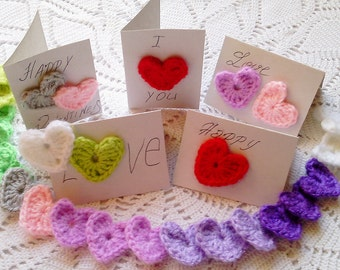 CROCHET PATTERN,Hearts, Crochet Heart Pattern,Heart Pattern, DIY Crochet Hearts,Valentine Hearts Crochet Heart Applique, Hearts.
