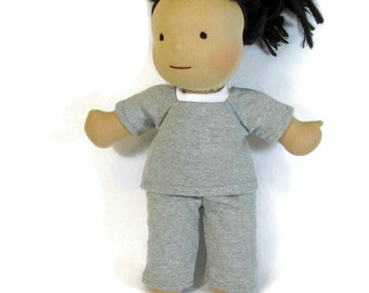14, 15, 16 inch Waldorf doll clothes, sweat suit, 15 inch doll clothes, doll pants and top, handmade