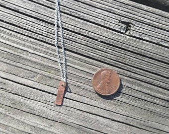 Tiny Copper Vertical Bar