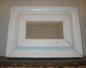 SHABBY ARCHITECTURAL Chic Salvaged Recycled Wood Photo Picture Frame 2x4 S-468